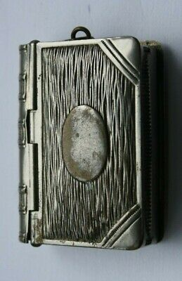 £33.30 • Buy Vintage  Book Shaped  Vesta And Stamp Case - Blank Cartouche -Strong Springs