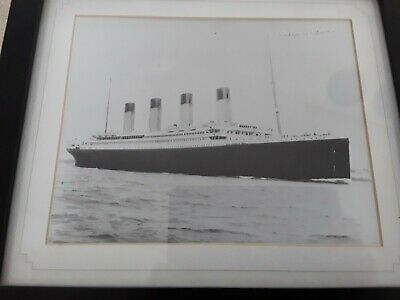 £25 • Buy PICTURE OF TITANIC Signed By Milvena Dean