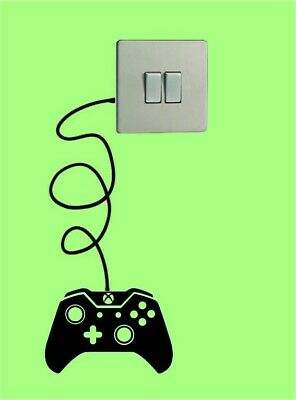 £3.69 • Buy Xbox Controller Light Switch Black Vinyl Sticker Wall Decal Xbox One