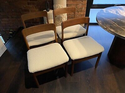 £500 • Buy Younger 1960s Vintage Dining Chairs - Set Of 4 In Off White Bouclè
