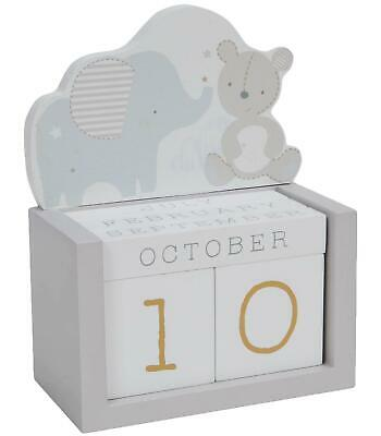£6.99 • Buy Baby Wooden Perpetual Calendar Rotating Blocks Date Month Day Office Home Décor