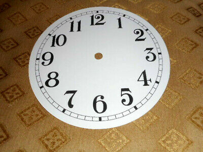 £2.05 • Buy Round PAPER (CARD) Clock Dial / Face - 2  MINUTE TRACK - ARABIC - GLOSS WHITE