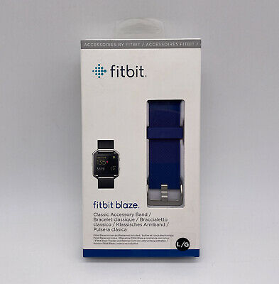 $ CDN11.33 • Buy New Fitbit Blaze Large Blue Classic Accessory Band For Fitness Tracker NIB