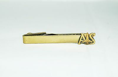 $3.95 • Buy Vintage TIE TACK CLASP BAR Letters A & S Military Plane