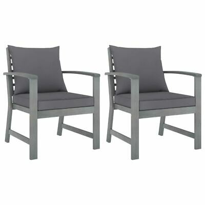 AU251.95 • Buy 2 Pcs Garden Chair Set Wooden Armchair Patio Seat With Cushion Outdoor Furniture