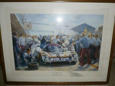 £59.95 • Buy Framed Alan Fearnley Last Pit Stop Before Victory Le Mans 24 Hours Print