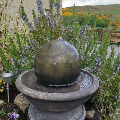 £341.55 • Buy Stone Ball Sphere Garden Patio Water Fountain Feature Ornament