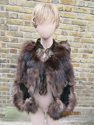 £25 • Buy Vintage Silver Fox Cape Distressed But Could Be Sorted