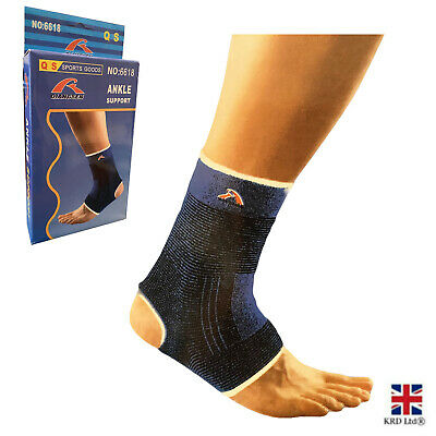 £2.99 • Buy 2 X Elastic Ankle Support Sports Gym Sprain Running Injury Protection Sock UK