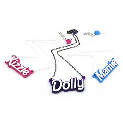 £18.99 • Buy Personalised Doll Font Laser Cut Name Necklace, Choose Colours And Wording