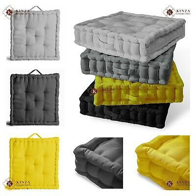 £11.95 • Buy 4 Inch Soft Square Chunky Booster Cushion Floor Chair Seat Pad Sofa Garden Home