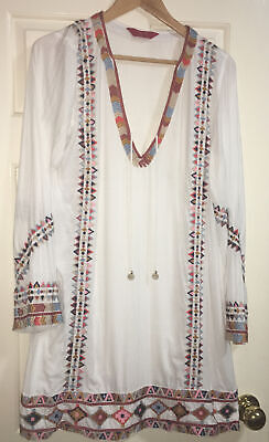 AU85 • Buy Tigerlily White Embriidered Dress Size 12