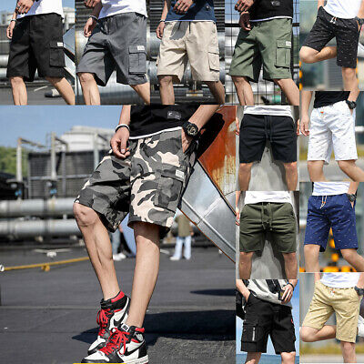 $16.99 • Buy Men's Casual Cargo Shorts Outdoor Pants Workout Summer Joggers Hiking Trousers