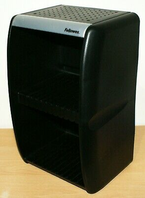 £12.99 • Buy CD Storage Unit Rack Fellowes Black Plastic With Dividers