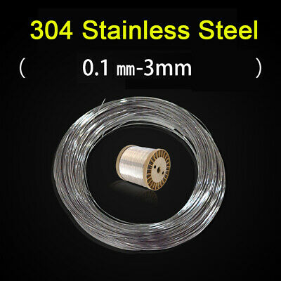 £1.79 • Buy 1 Meter 304 Stainless Steel Bright Wire Single Wire Soft / Hard Rope 0.1mm-3mm