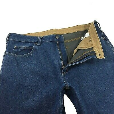 $23.99 • Buy Duluth Trading Co. Mens Fleece Lined Ballroom Work Jeans Size 38x 34 Relaxed Fit