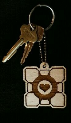 £7.31 • Buy Portal Companion Cube Laser Engraved Keychain Backpack Accessory