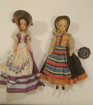 £10 • Buy 2 VINTAGE REXARD Costume Collector Dolls Of World 7.5 Ins (Miss Devon & Another)