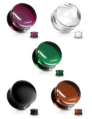 £6 • Buy Glass Double Flare Saddle Ear Plugs Tunnel Stretcher - 5 Colours 6mm - 16mm