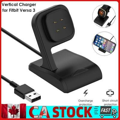 $ CDN10.04 • Buy USB Charger For Fitbit Versa 3/Fitbit Sense Smart Watch Charging Cable Dock