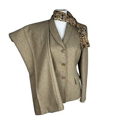 £30.39 • Buy  COLLECTIONS FOR  LE SUIT 3PC Beige Polyester Lined Pant Suit Scarf Size 10