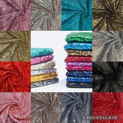 £1.50 • Buy  Sequin Fabric Sparkly Shiny Bling Dressing Decoration Net Material 130cm