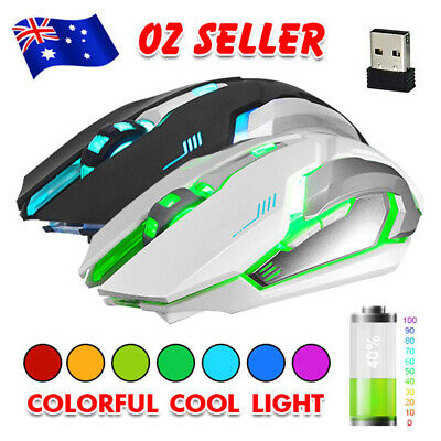 AU17.95 • Buy Wireless Gaming Mouse Cordless Optical Mice 2.4GHz USB For PC Laptop Computer