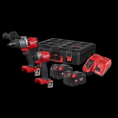 £450 • Buy Milwaukee M18 FUEL Twin Pack Percussion Drill And Hex Impact Driver Set
