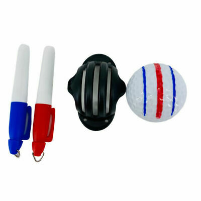 £4.48 • Buy Triple Line Putt Alignment Track Golf Ball Marker Stencil With 2 Pens - No Ball