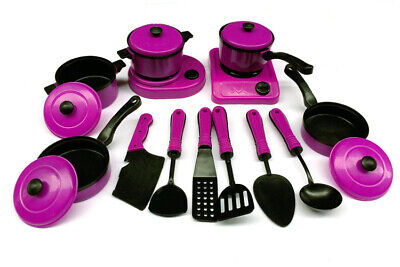 £6.99 • Buy 13Pcs Play Childrens Toy Kitchen Cooking Utensils Accessories Set Toys Durable