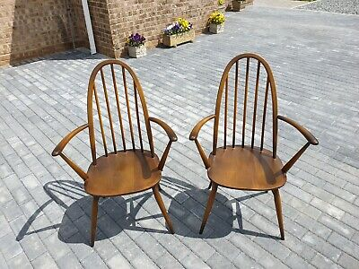 £220 • Buy Two Ercol Quaker Windsor Carver Armchairs