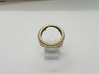 £294.99 • Buy 9ct Yellow Gold Full Sovereign Mount Ring Size S 8.2g