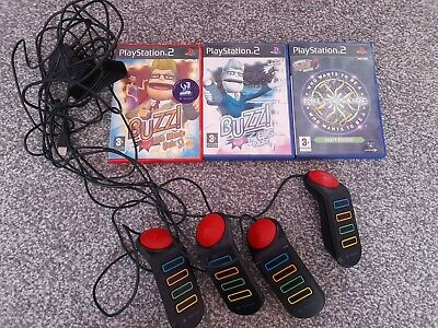 £19.99 • Buy Buzz Wired Controllers Buzzers + Games Sony Playstation 2 PS2