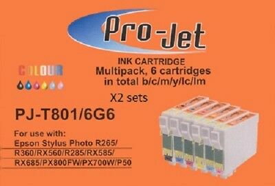 £7.99 • Buy 12 Projet Ink 2 Sets Fits Epson PX720 P50 PX800FW R265 R285 R360 RX560 RX685