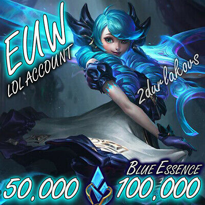 £2.12 • Buy EUW League Of Legends LOL Account 50.000❄️100.000 BE Unranked Smurf Level 30