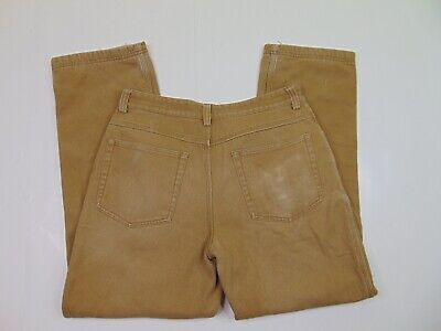 $18.99 • Buy Duluth Trading Men 34 X 32 Brown Fire Hose Canvas Pants Fleece Lined Utility