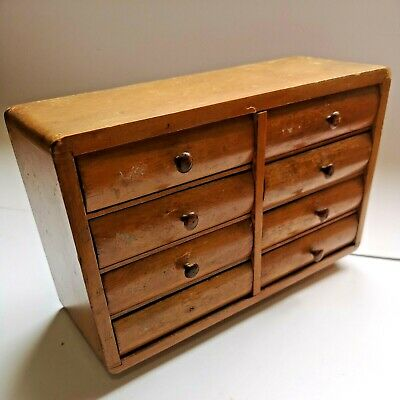 £49.99 • Buy Vintage Collectors Chest Of Drawers Former Watchmakers Cabinet