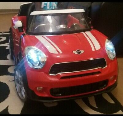 £45 • Buy Childs Red Mini Cooper Ride On Electric Car - 6v (with Charger)