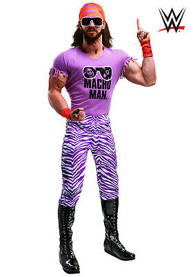$150 • Buy Macho Man Madness Costume Large / Wig Kit / Wresting Boots Size 8