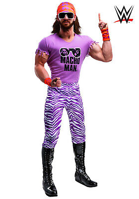 $150 • Buy Macho Man Madness Costume Small / Wig Kit / Wresting Boots Size 9