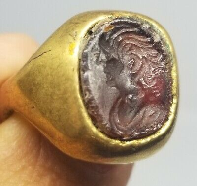£109.13 • Buy Roman Gold Over Bronze And Intaglio Ring