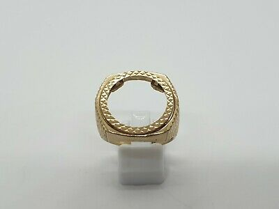 £369.99 • Buy 9ct Yellow Gold Half Sovereign Mount Ring Size W 10.6g