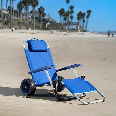 $123.20 • Buy Mac Sports 2-in-1 Beach Day Folding Lounge Chair+Cargo Cart For Outdoors Summer