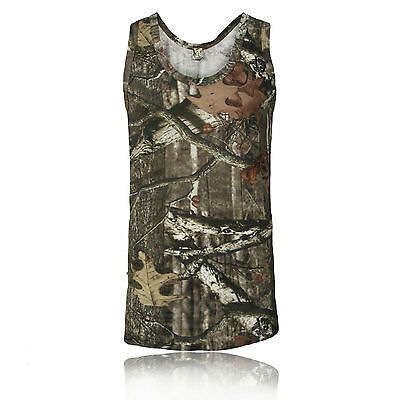 £6.04 • Buy Mens Jungle Tree Camouflage Camo Sleeveless Vest Top Green Brown S - 5xl