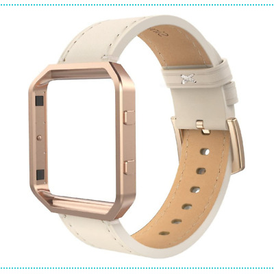 AU28.37 • Buy Leather Band Compatible Fit Bit Blaze Large Size Genuine Leather Band Beige