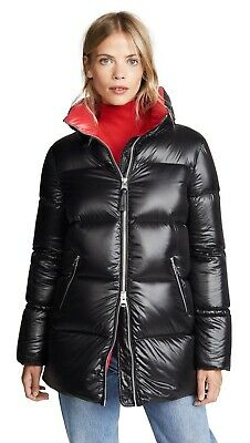 $210 • Buy Mackage Aiko Parka Black With Red Lining Size M Puffer, Down Warm Winter Jacket