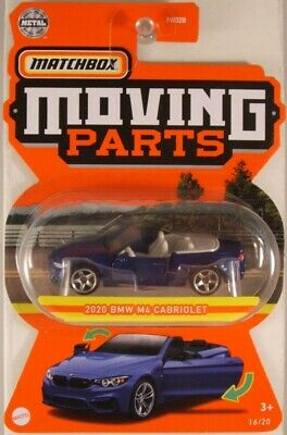 $3.95 • Buy MATCHBOX Moving Parts: 2020 BMW M4 Cabriolet, 2021 Issue (NEW In BLISTER)
