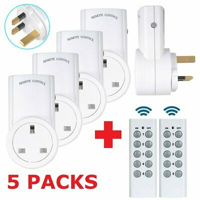 £25.99 • Buy Wireless Remote Control Sockets Programmable Electrical UK Plug Outlet Switch