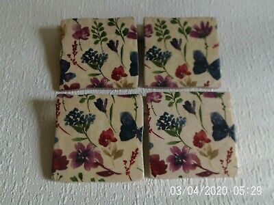 £13.95 • Buy Set Of 4  Handcrafted Tile Coasters ~  Butterfly