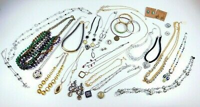 $ CDN163.64 • Buy Lot Of 31 Designer Jewelry Necklace Ring Bracelet Lucky Brand Cookie Lee Talbots